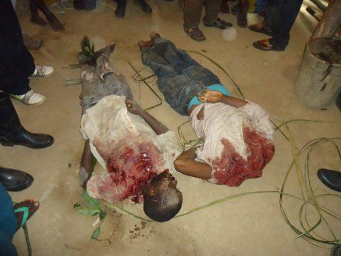 Deux victimes de massacres de Beni