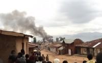 une agglomération mise en feu au sud de Lubero par un groupe armé photo BLO par George Noko