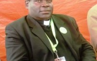 Father Vincent Machozi, world president of the Nande community at a conference Photo BLO by Justin