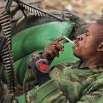 Militaires de l'armée congolaise au front a L'Est de la RDC