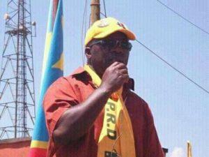 Kakolele Bwambale alias Aigle Blanc en pleine campagne pour Kabila à Beni, en 2011 Photo BLO/ Don de Dieu