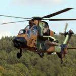 Un hélicoptère de guerre  photo BLO/ Georges NOKO
