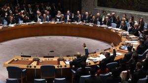 Le Membres du Conseil de Nations unies a New York