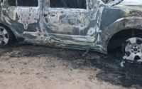 Véhicule incendié à Makala/Kinshasa