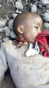 Enfant kidnappé retrouvé décapité à Goma.